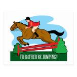 Horse Jump Postcard