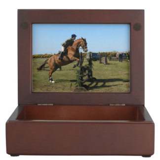 Horse Jumper And Rider Memory Box