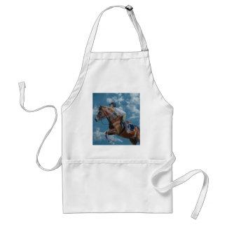 Horse Jumper Blue Sky Adult Apron
