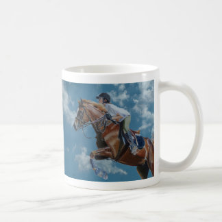 Horse Jumper Blue Sky Coffee Mug