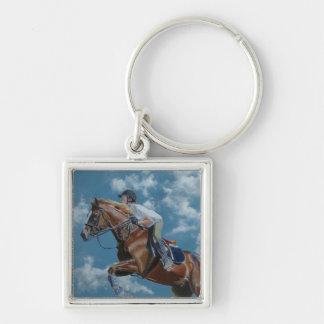 Horse Jumper Blue Sky Keychain
