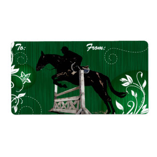 Horse Jumper Gift Label Tags Shipping Label