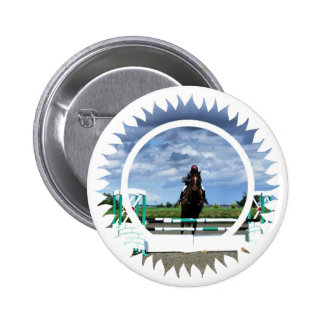 Horse Jumper Round Pin