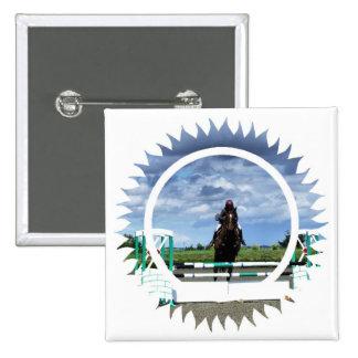 Horse Jumper Square Pin