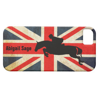 Horse Jumper Union Jack Flag iPhone Case iPhone 5 Cases