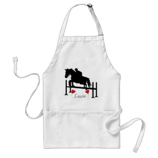 Horse Jumper w/ Your Name Adult Apron