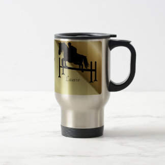 Horse Jumper w/ Your Name Travel Mug