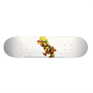 Horse Jumping Abstract Red Yellow Blue theme Skateboard Deck