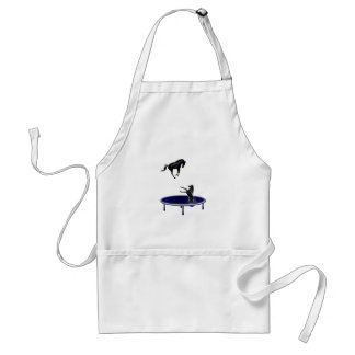 horse jumping adult apron