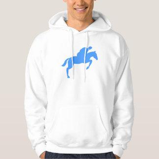 Horse Jumping - Baby Blue Hoodie