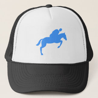 Horse Jumping - Baby Blue Trucker Hat