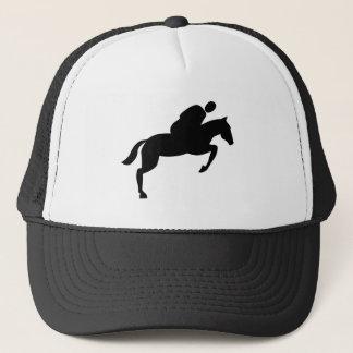 Horse Jumping - Black Trucker Hat