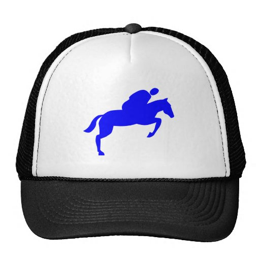 Horse Jumping - Blue Hat