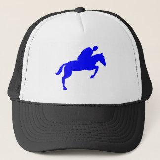 Horse Jumping - Blue Trucker Hat