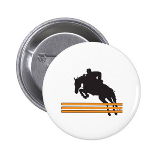 HORSE JUMPING 2 INCH ROUND BUTTON