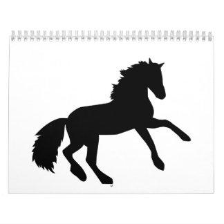 Horse jumping calendar