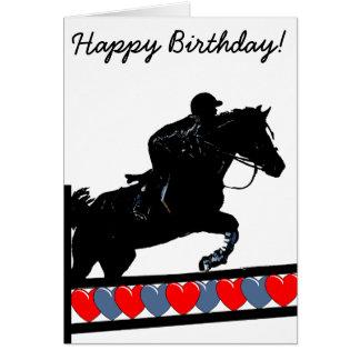 Horse Jumping Card