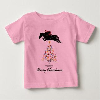 Horse Jumping Christmas Baby T-Shirt