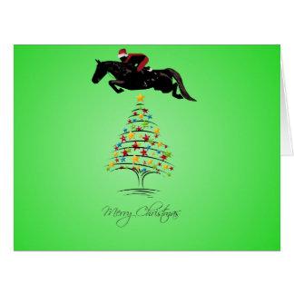 Horse Jumping Christmas Card