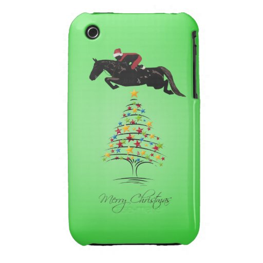 Horse Jumping Christmas iPhone 3 Case-Mate Cases