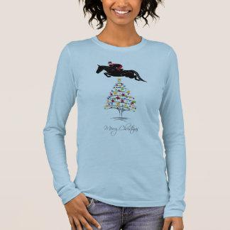 Horse Jumping Christmas Long Sleeve T-Shirt