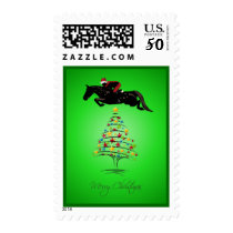 Horse Jumping Christmas Postage
