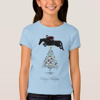 Horse Jumping Christmas T-Shirt