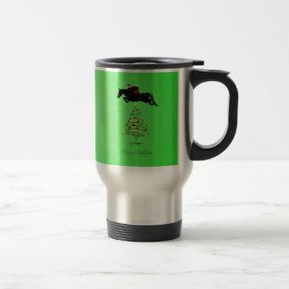 Horse Jumping Christmas Travel Mug