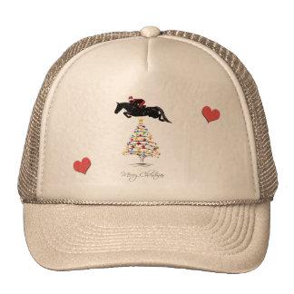 Horse Jumping Christmas Trucker Hat