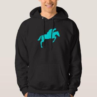 Horse Jumping - Cyan Hoodie