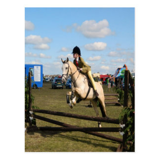 horse jumping fly freedom postcard