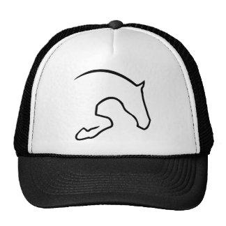 horse jumping gorros bordados