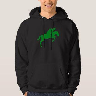 Horse Jumping - Grass Green Hoodie