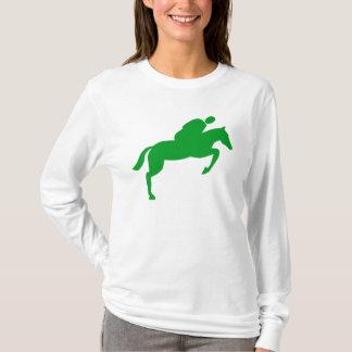Horse Jumping - Grass Green T-Shirt
