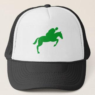 Horse Jumping - Grass Green Trucker Hat