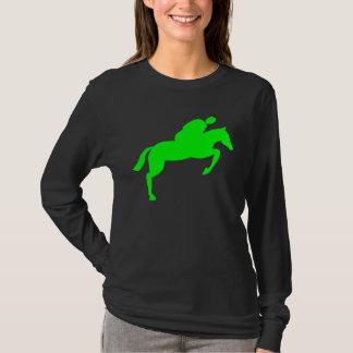Horse Jumping - Green T-Shirt