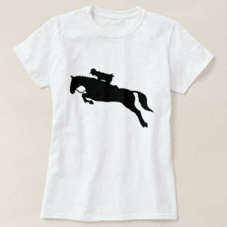 Horse Jumping Hunt Seat Equestrian Silhouette T-Shirt