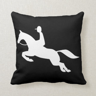horse jumping icon pillow