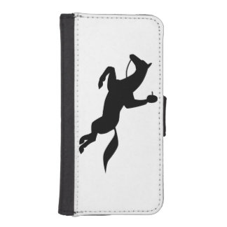 horse jumping icon iPhone 5 wallet case