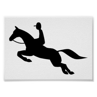 horse jumping icon poster