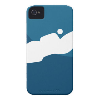 Horse Jumping Jockey Race Blue Icon Button Case-Mate iPhone 4 Cases