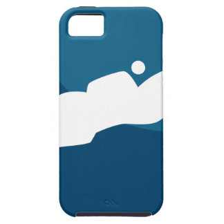 Horse Jumping Jockey Race Blue Icon Button iPhone SE/5/5s Case
