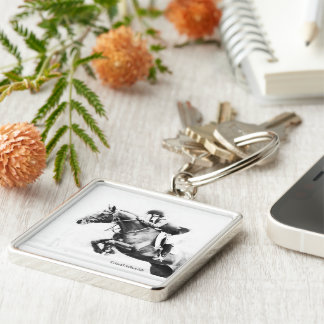 Horse Jumping Keyring Keychain