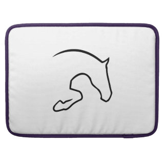 horse jumping MacBook pro sleeves
