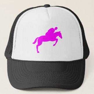 Horse Jumping - Magenta Trucker Hat