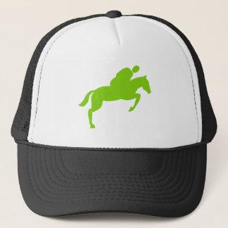 Horse Jumping - Martian Green Trucker Hat