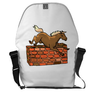 Horse Jumping Courier Bags