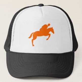 Horse Jumping - Orange Trucker Hat