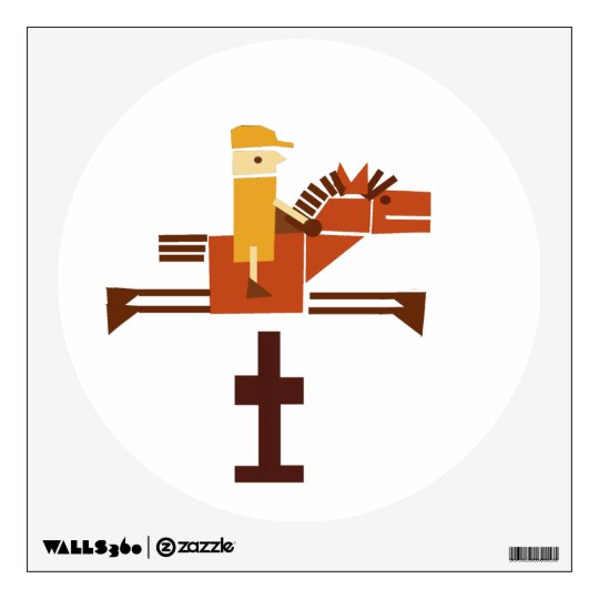 horse jumping over a hurdle wall sticker