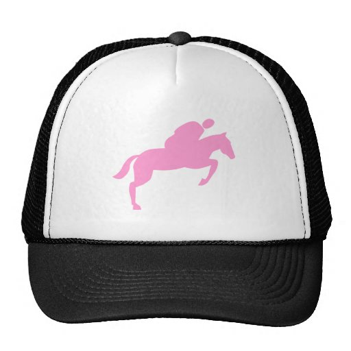 Horse Jumping - Pink Mesh Hat